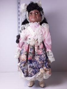 Porcelain doll, Francie Jo African American colle